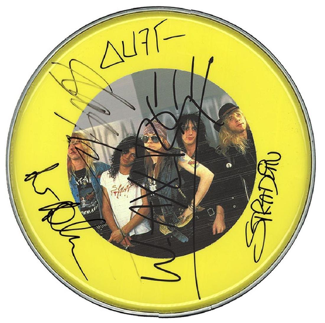 Guns N Roses Signed Drum Head