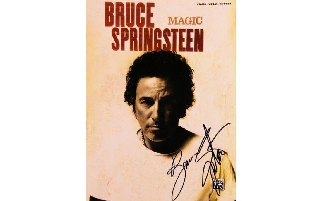 Bruce Springsteen Magic - Autographed Music Book - 2007
