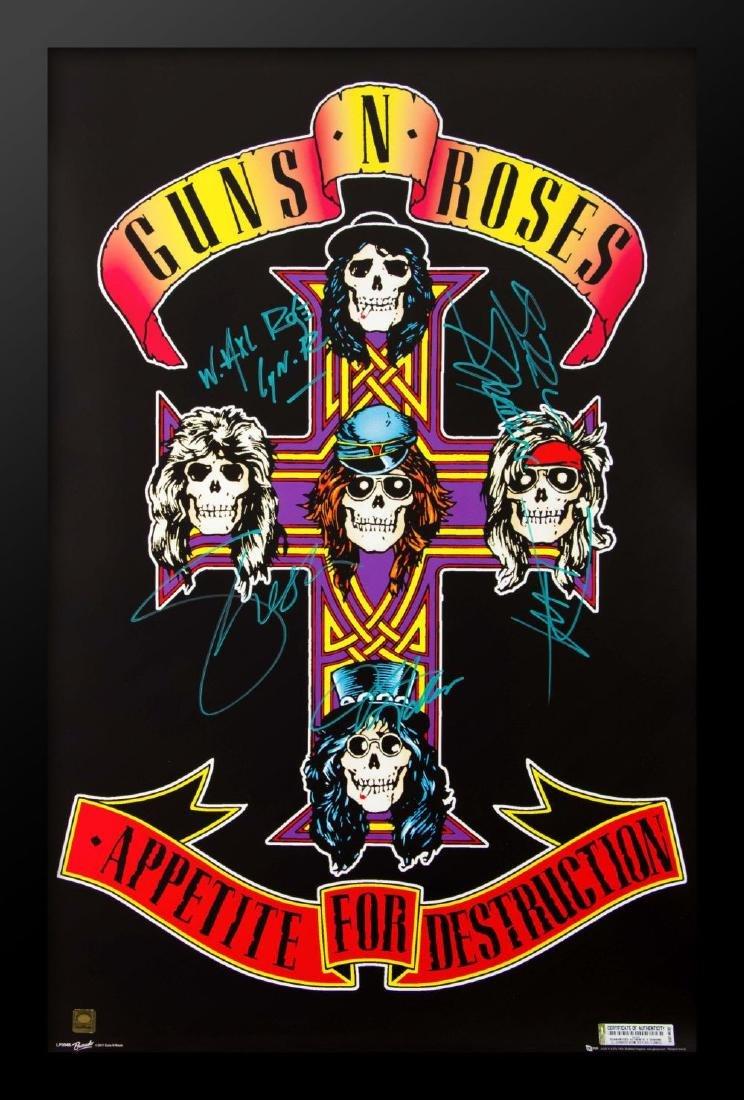 Guns N Roses Signed Poster