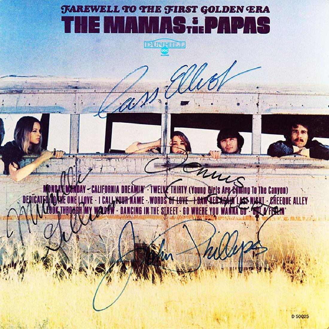 The Mamas And The Papas Band Signed Farewell To The