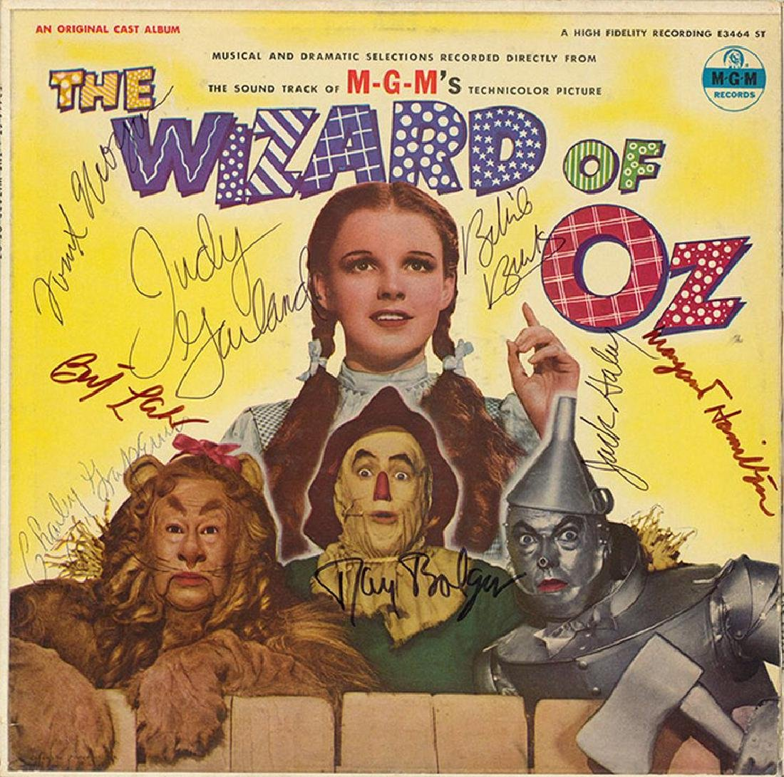 "Judy Garland ""Wizard of Oz"" Signed Soundtrack Album"