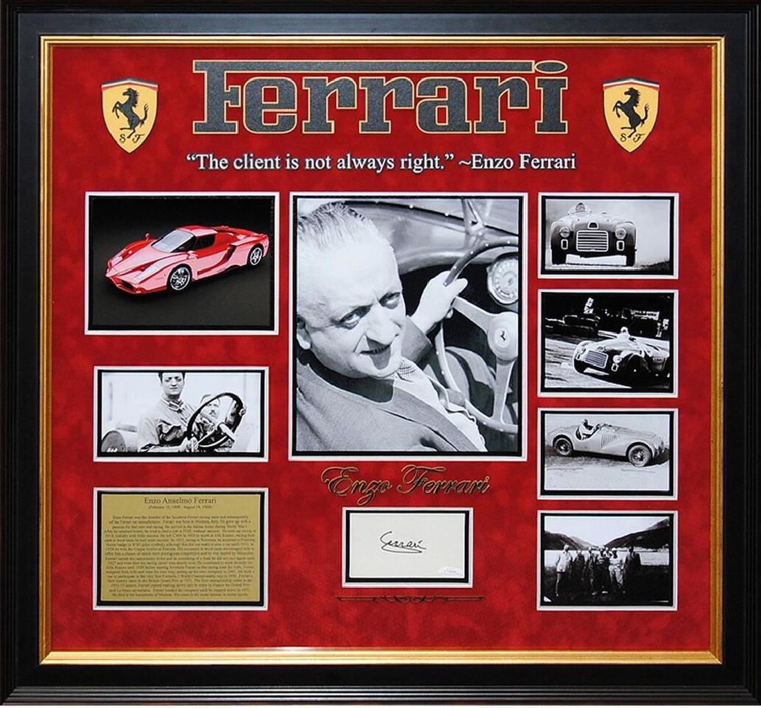 Enzo Ferrari Signed Collage