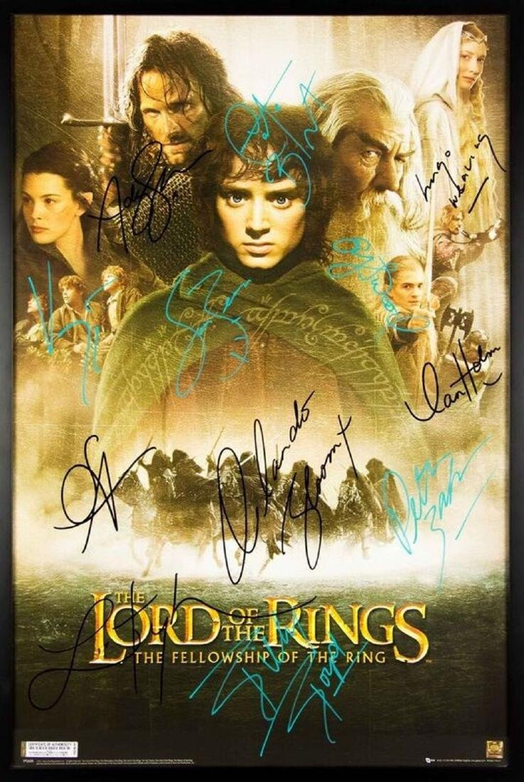LORD OF THE RINGS Signed Movie Poster