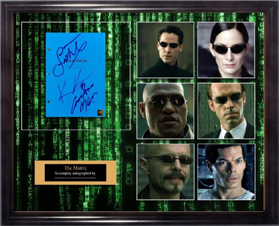 The Matrix Signed Screenplay