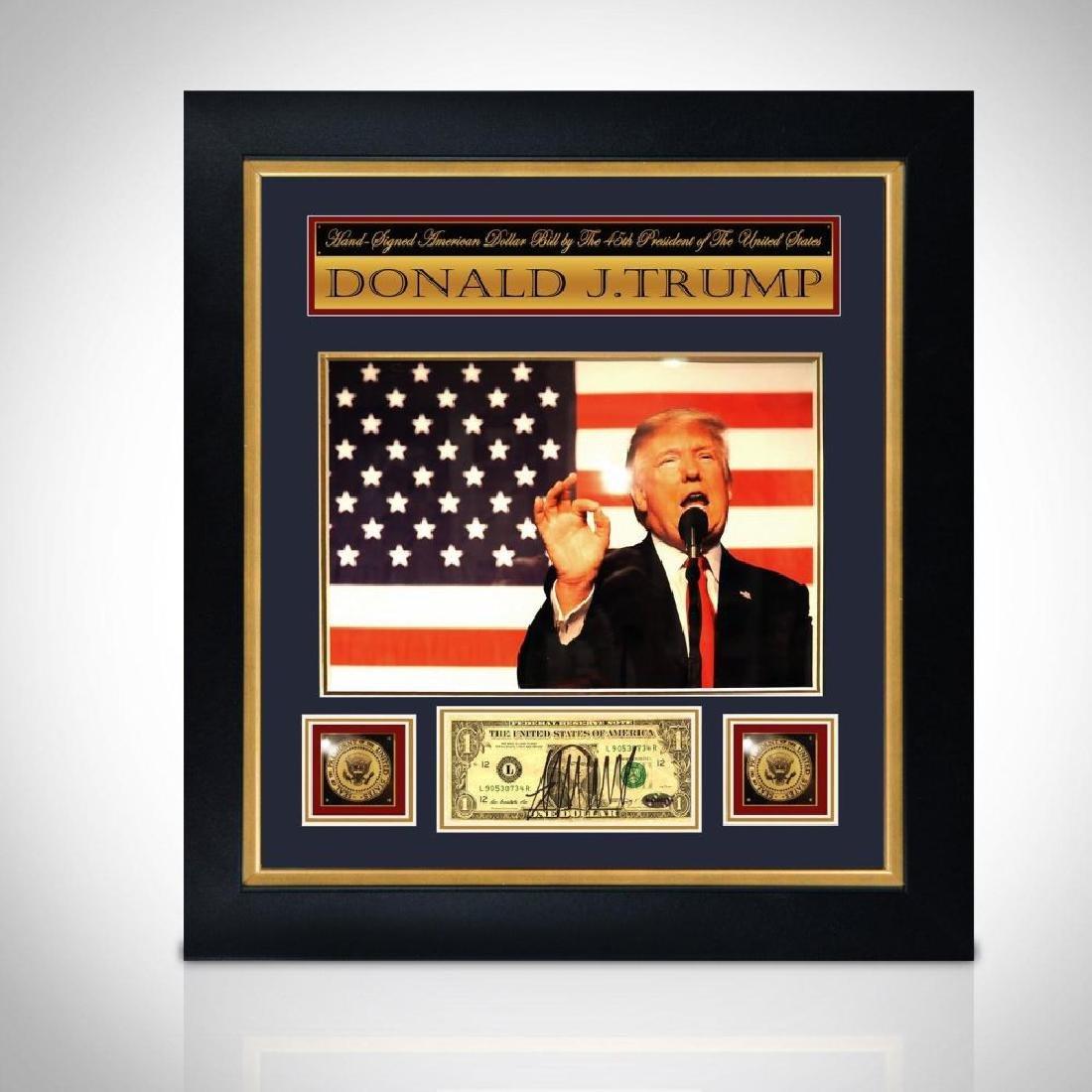 Donald Trump Signed Dollar Bill Collage