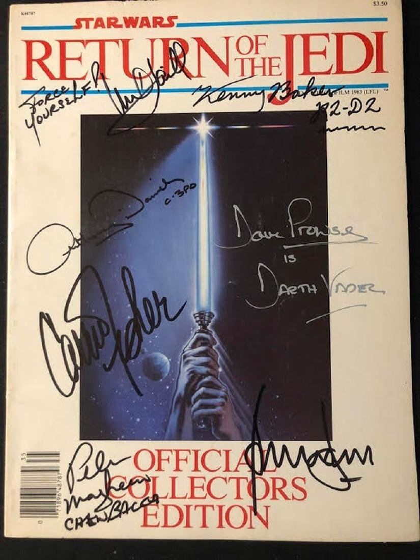 Star Wars: Return of the Jedi Cast Signed Collectors