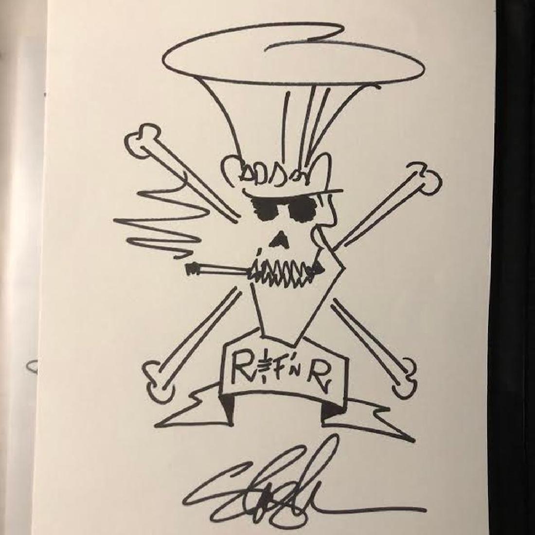 Slash Drawn and Signed Sketch