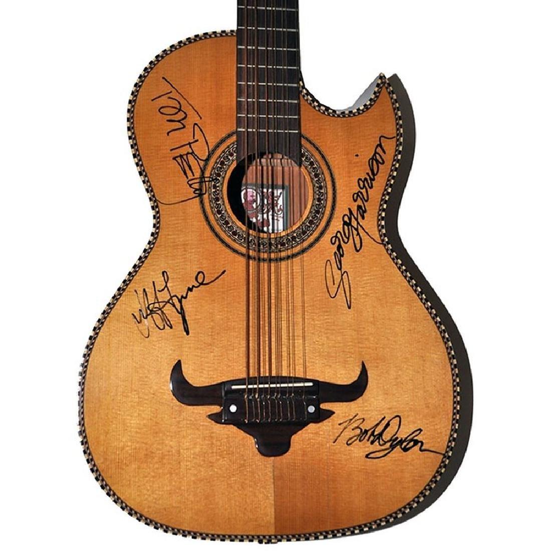 The Traveling Willburys Signed Guitar
