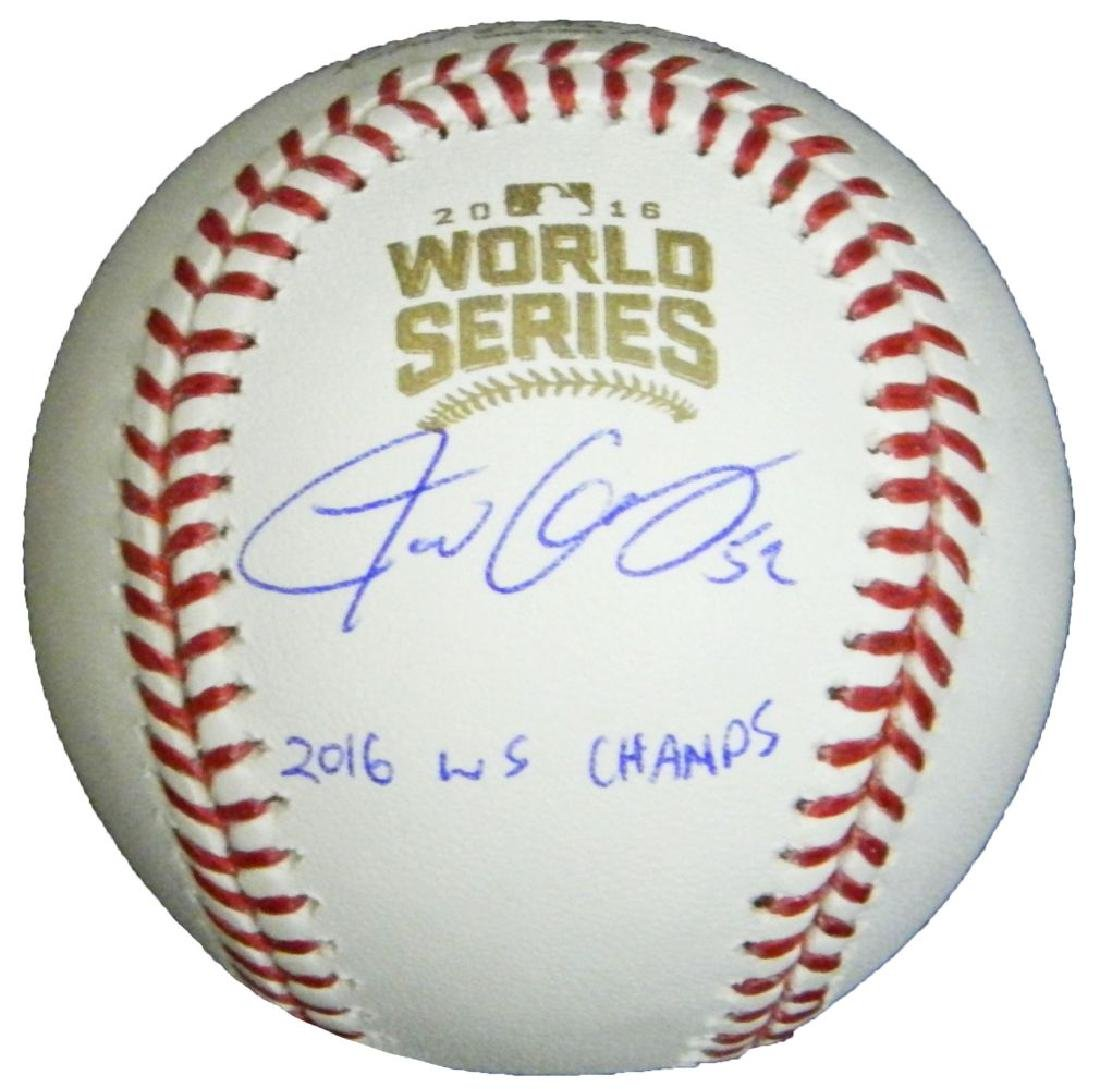 Justin Grimm Signed Rawlings Official 2016 World Series