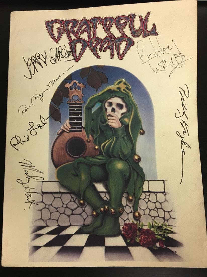 Grateful Dead Signed Music Book w/ Pigpen