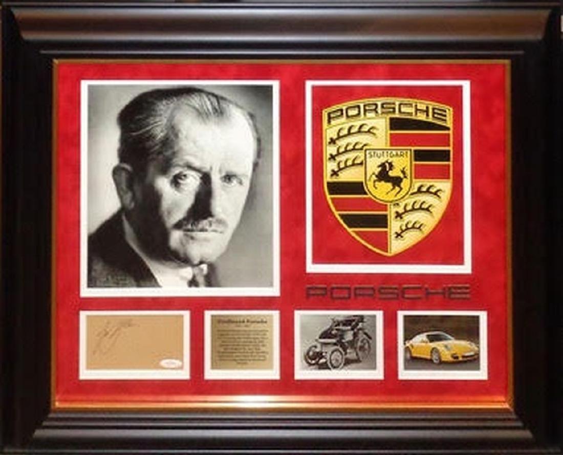 Ferdinand Porsche Framed Signature Collage