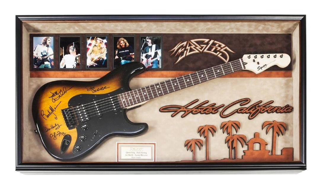 Eagles Hotel California Autographed Guitar