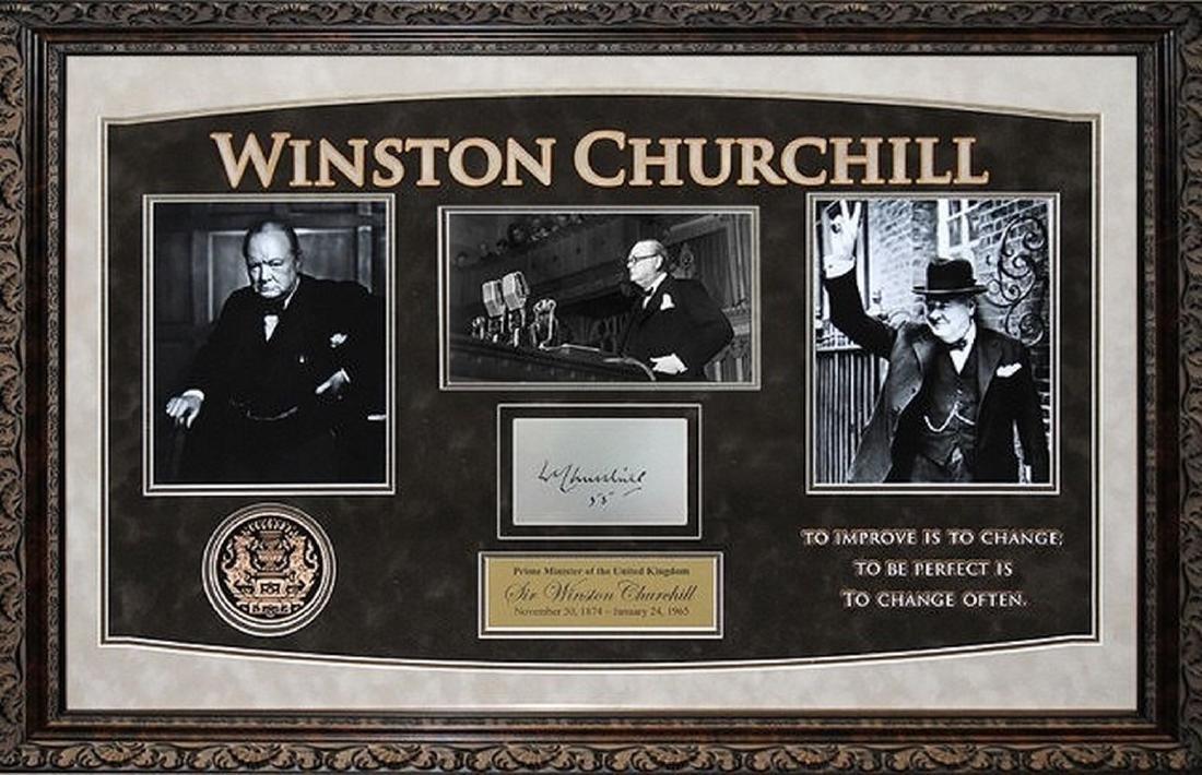 Winston Churchill Framed Signature Collage