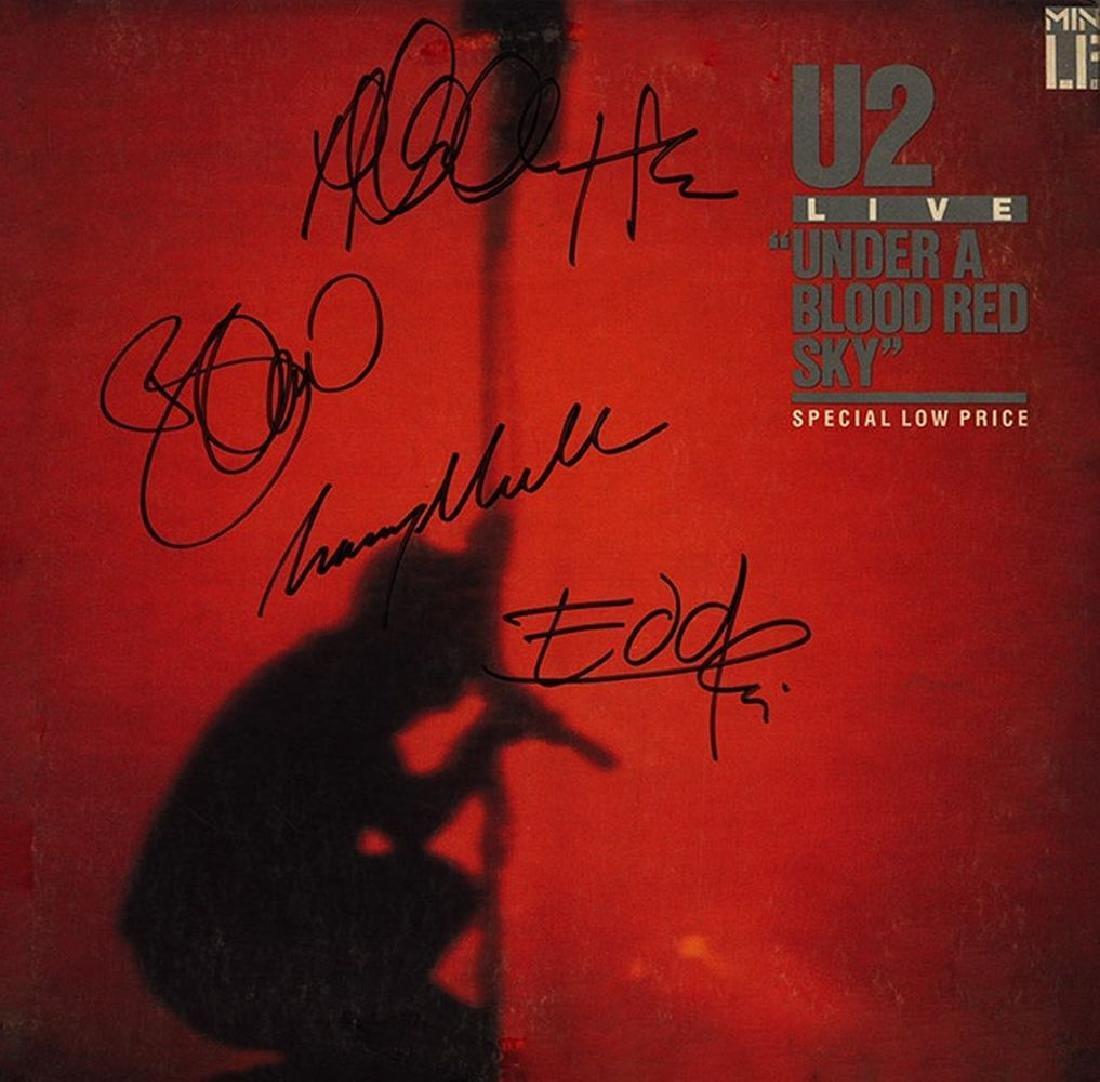 U2 Signed Live Under a Blood Red Sky Album
