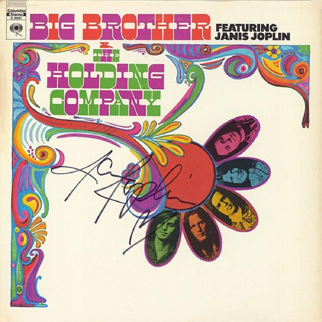 Janis Joplin Signed Big Brother & The Holding Company