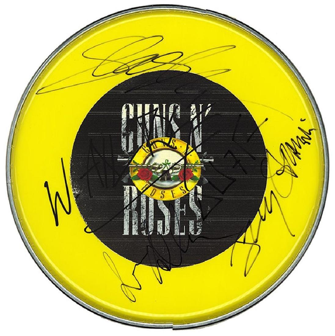 Guns N' Roses Signed Drum Head