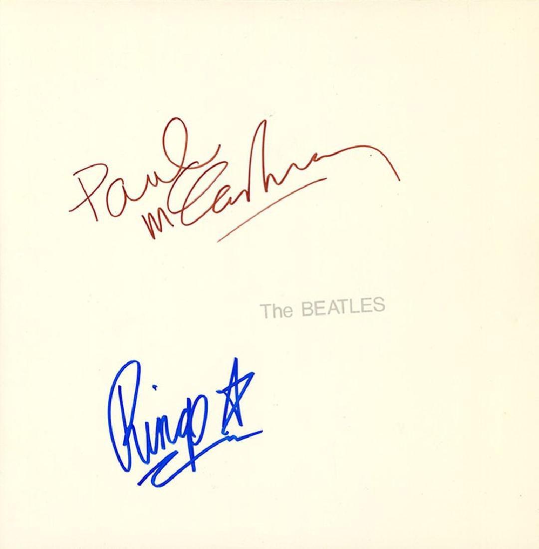 The Beatles Paul McCartney Ringo Starr Signed The White