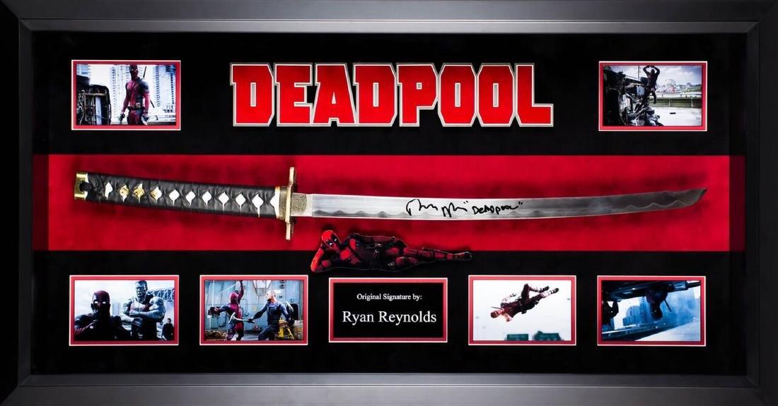 Deadpool Framed Signed Katana