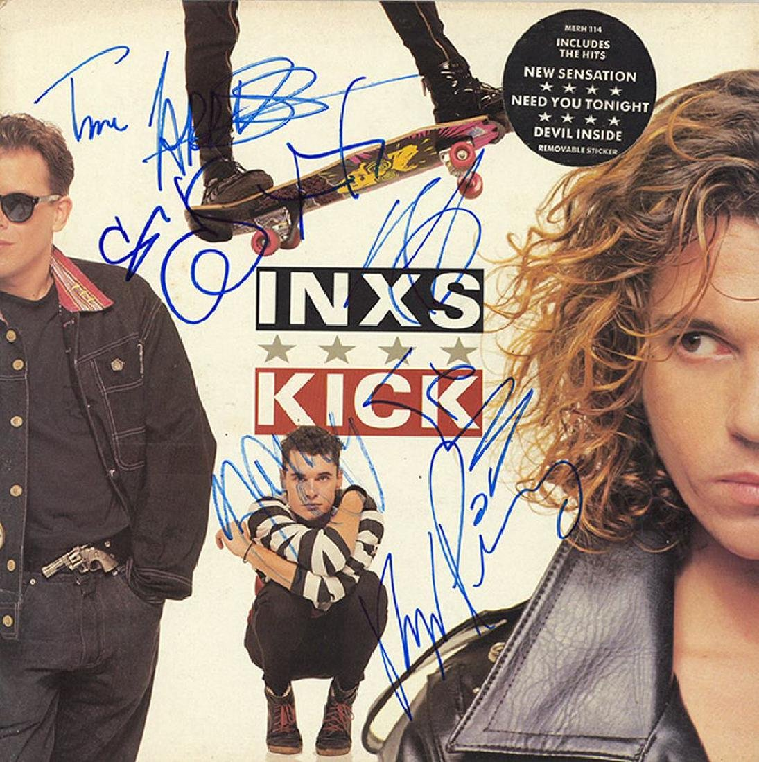 "INXS Signed ""Kick"" Album"