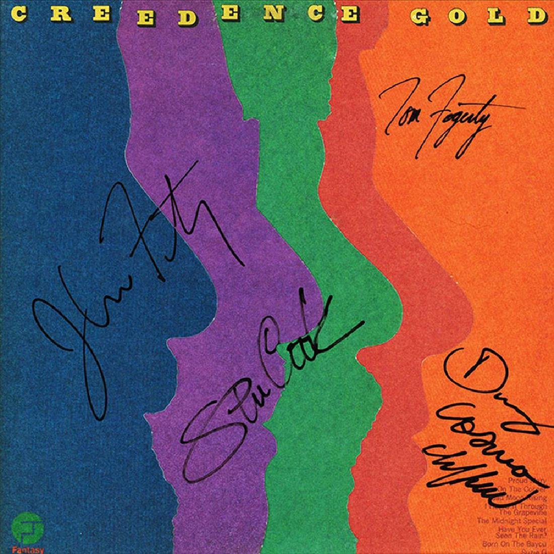 Creedence Clearwater Revival Band Signed Creedence Gold