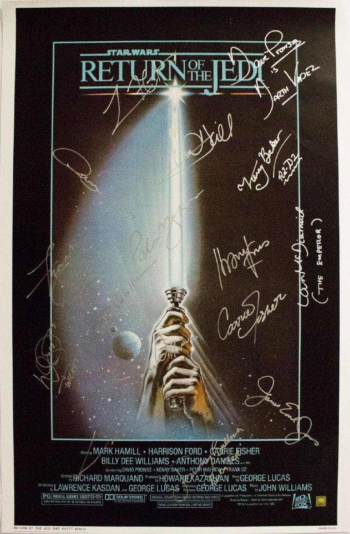 Star Wars Return of the Jedi – Signed Movie Poster