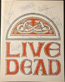 Grateful Dead Signed Live Dead Promo Book