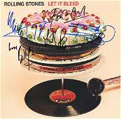 The Rolling Stones Band Signed Let It Bleed Album