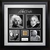 Albert Einstein Signed German Mark Collage