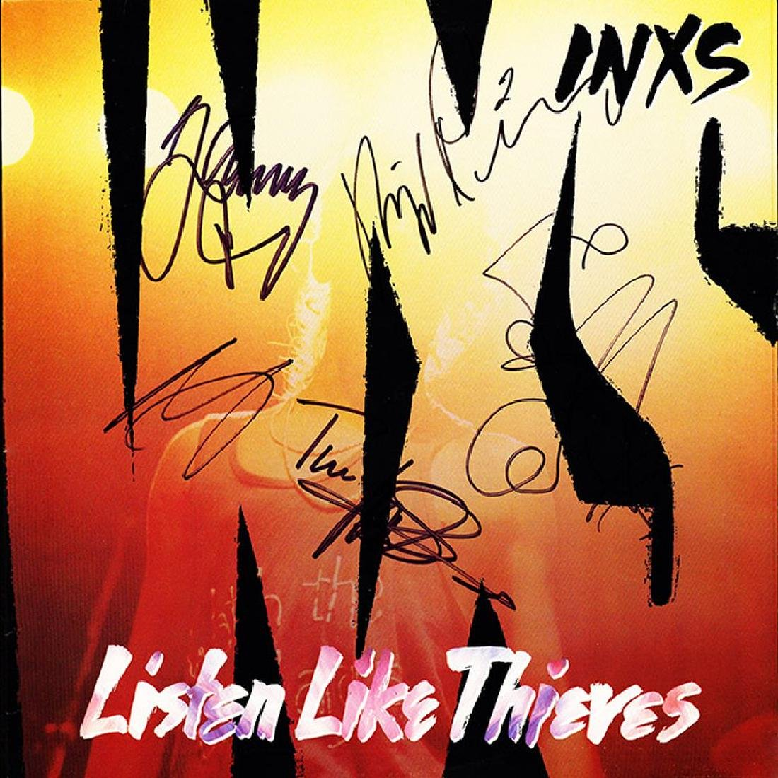 "INXS Signed ""Listen Like Thieves"" Album"