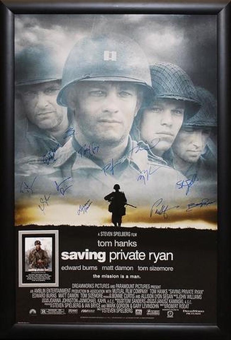 Saving Private Ryan - Signed Movie Poster