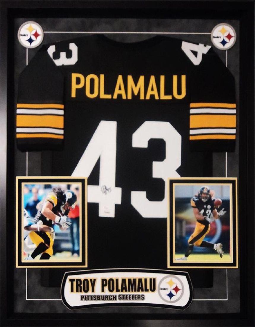 Troy Polamalu Signed Steelers Jersey