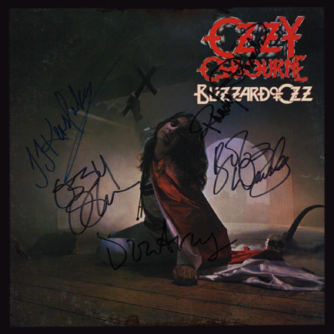"Ozzy Osbourne Signed ""Blizzard Of Ozz"""