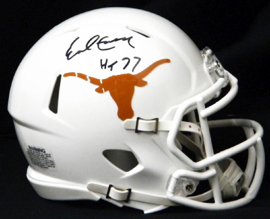 Earl Campbell Signed Texas Longhorns Riddell Speed Mini