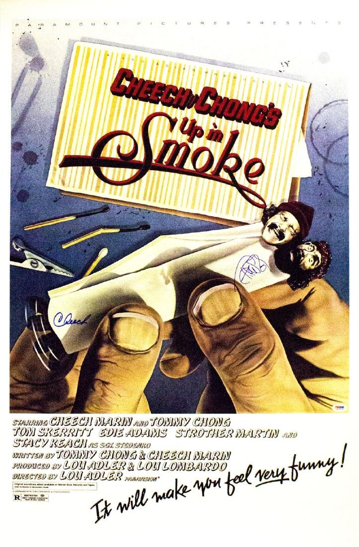 Cheech & Chong: Up In Smoke - Signed Poster