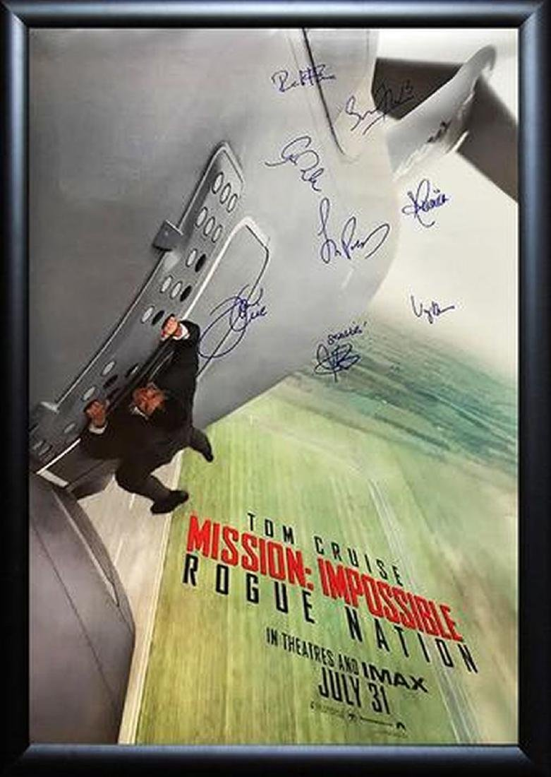 Mission Impossible Rogue Nation - Signed Movie Poster