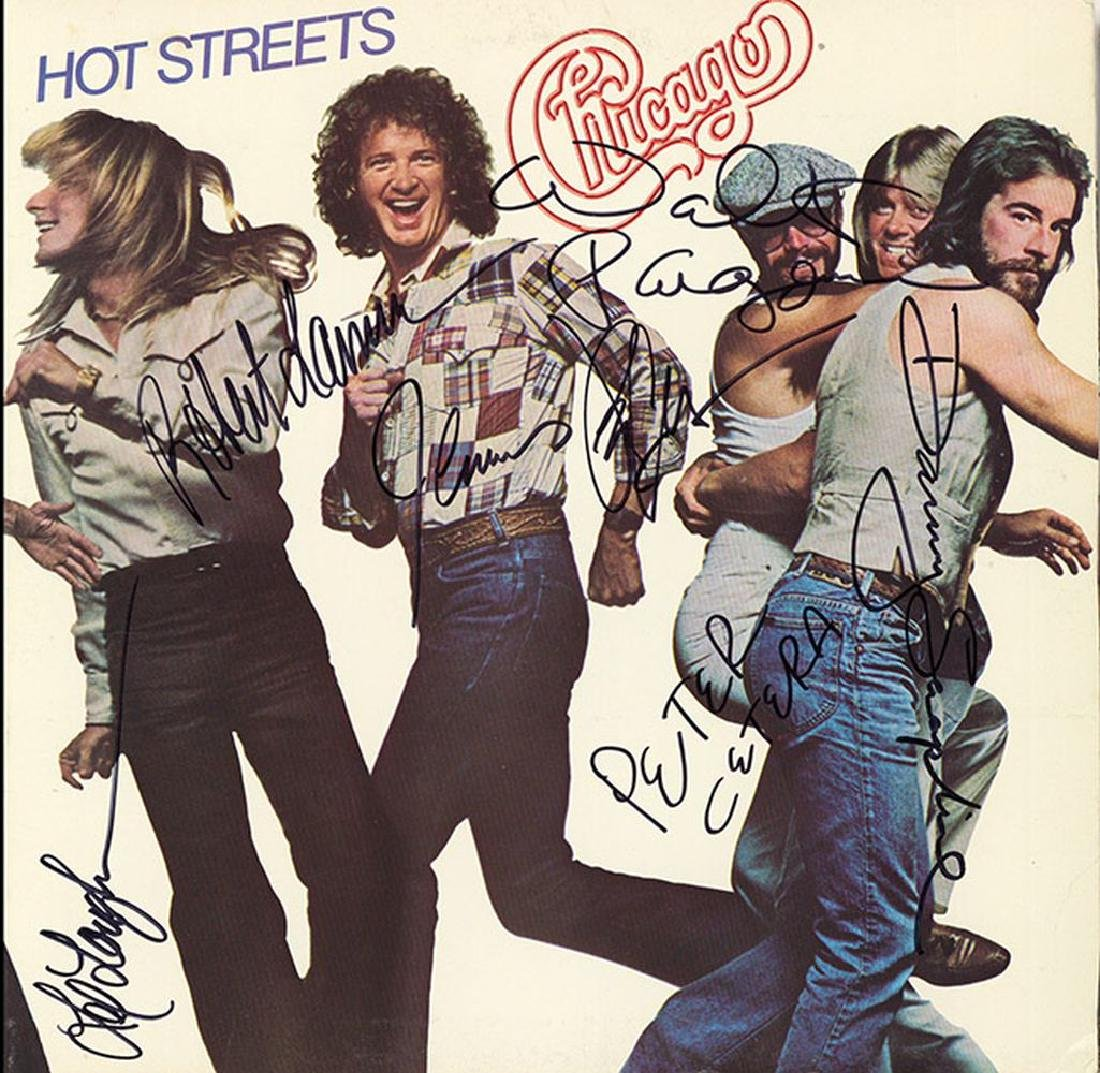 Chicago Band Signed Hot Streets Album