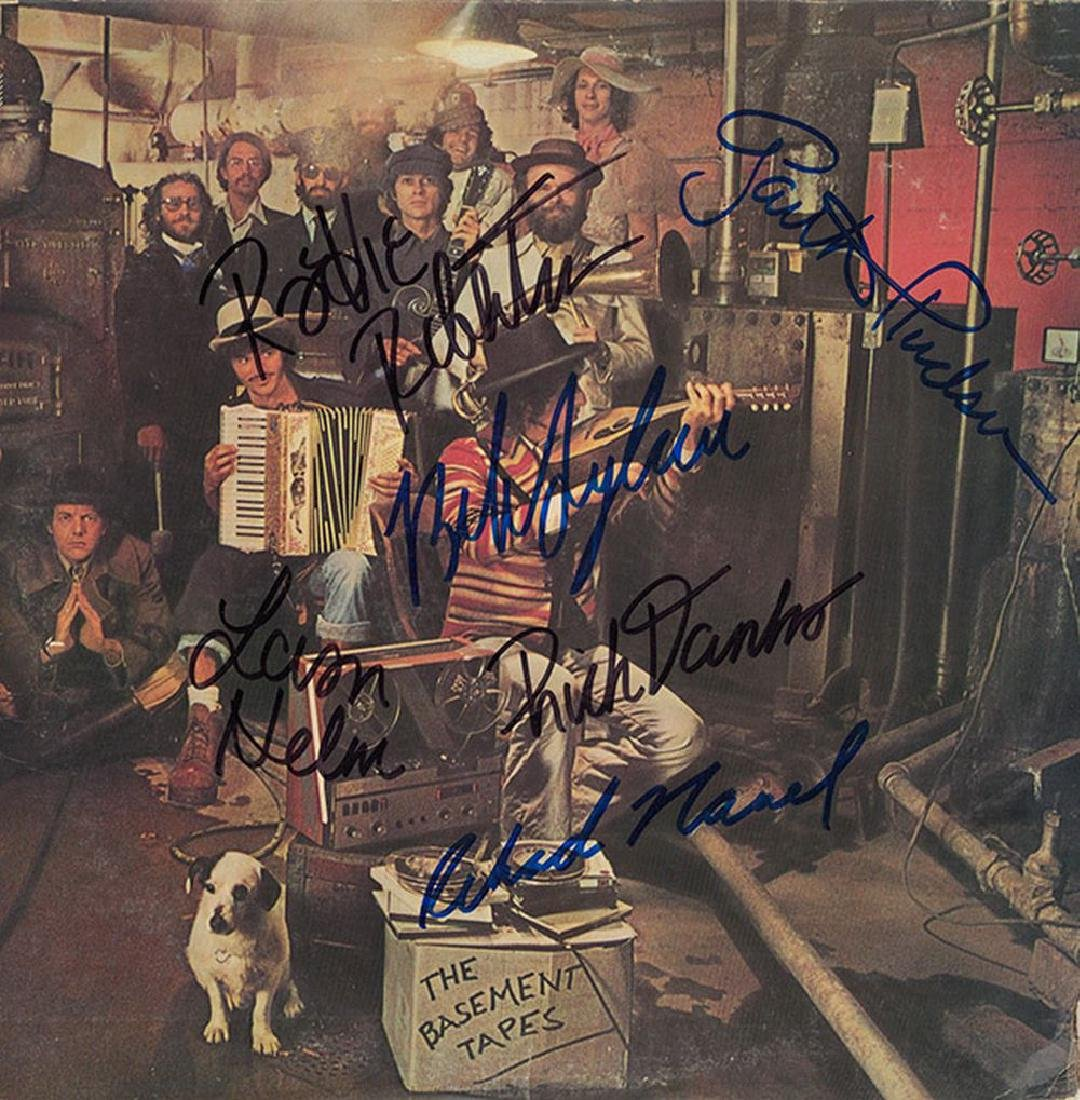 Bob Dylan and Band Signed The Basement Tapes Album