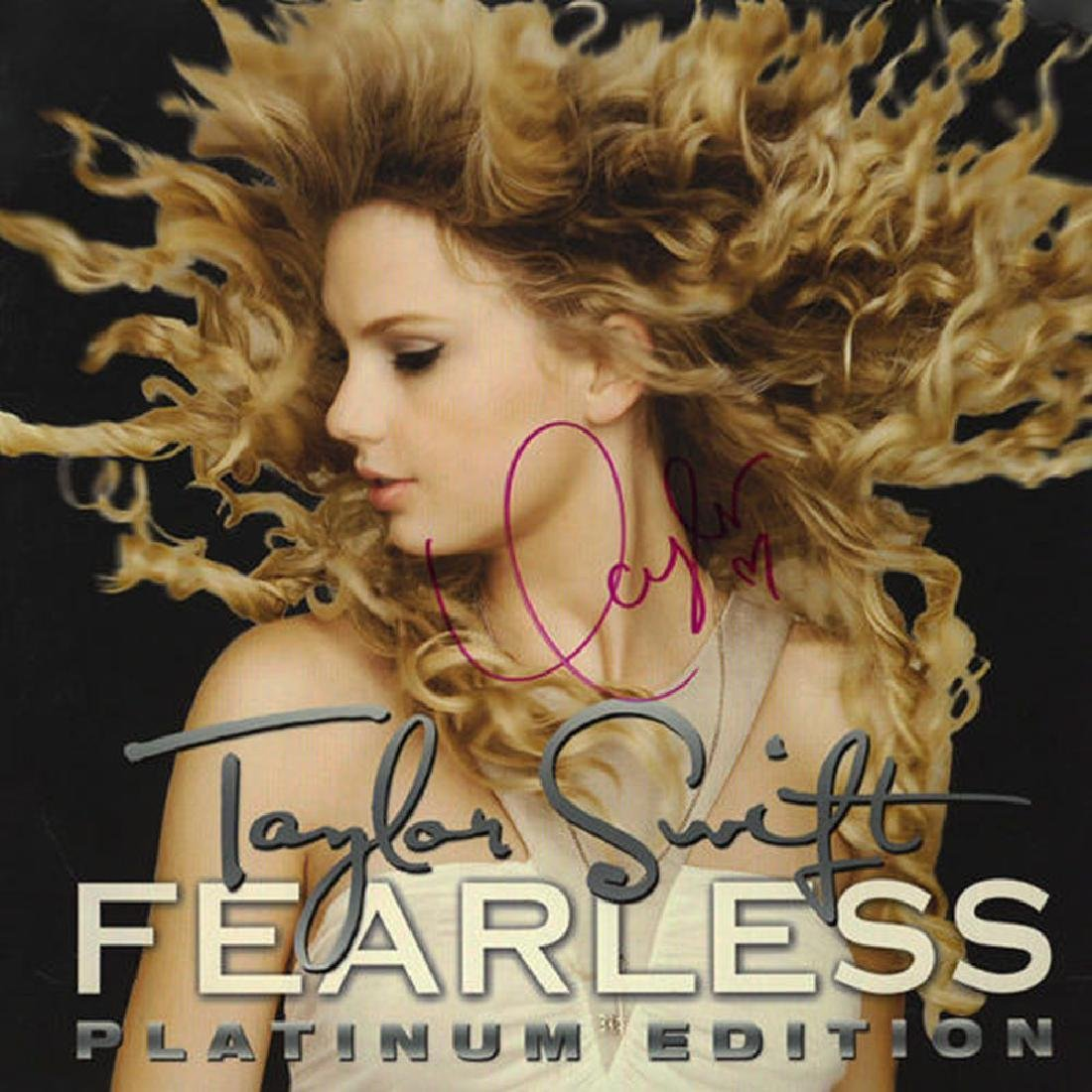 """Taylor Swift Signed """"Fearless Platinum Edition"""""""