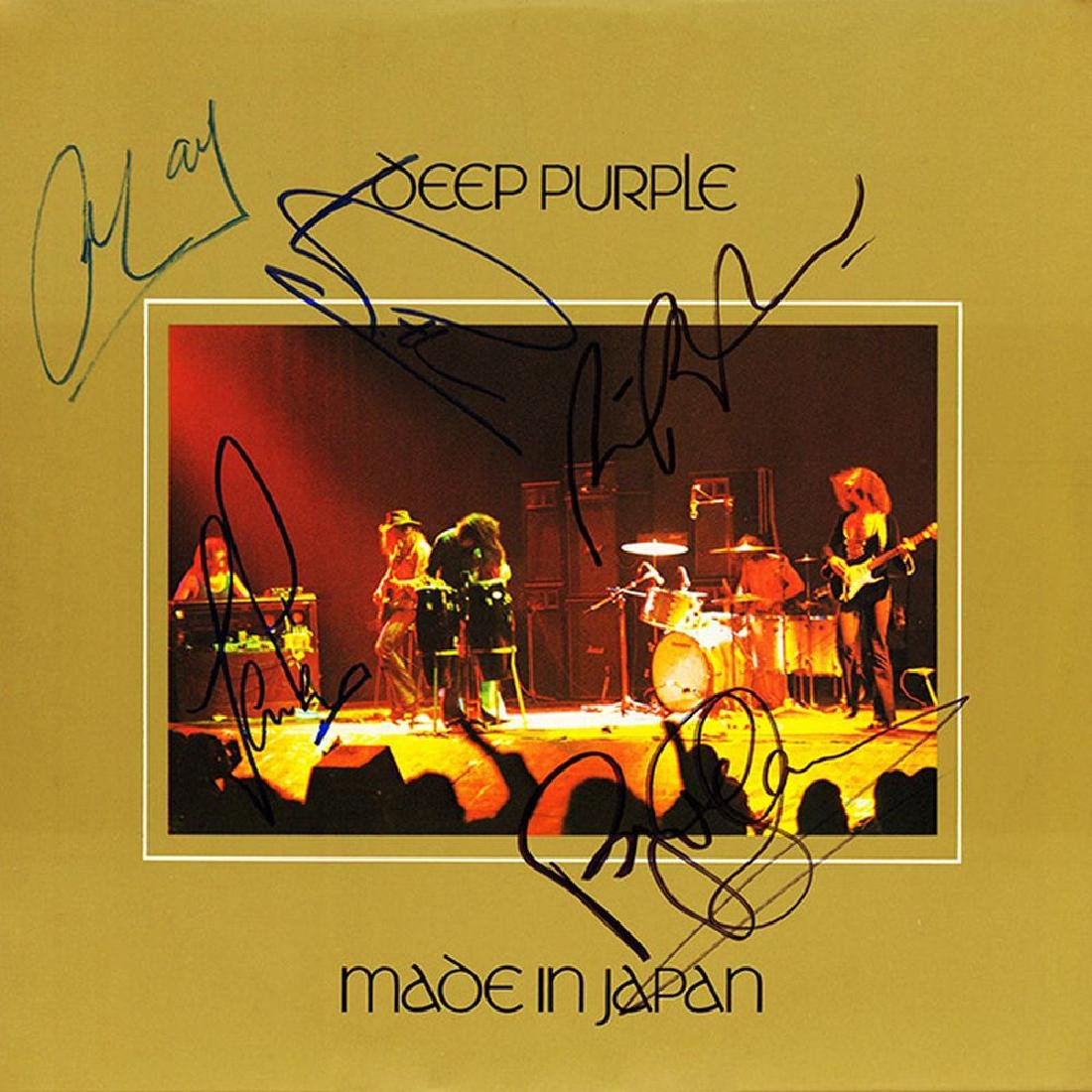 Deep Purple Band Signed Made In Japan Album