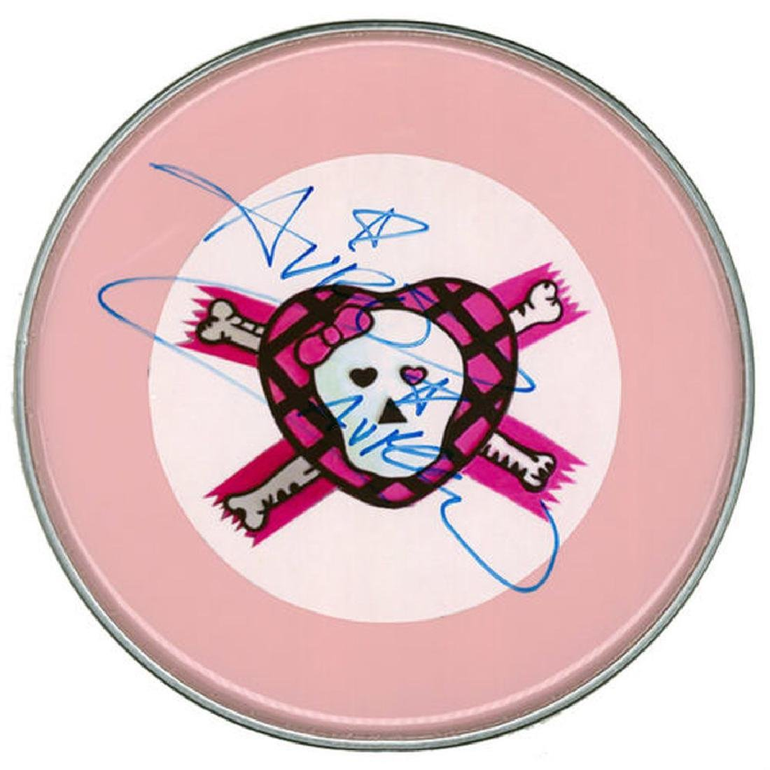 Avril Lavigne Signed Drum Head