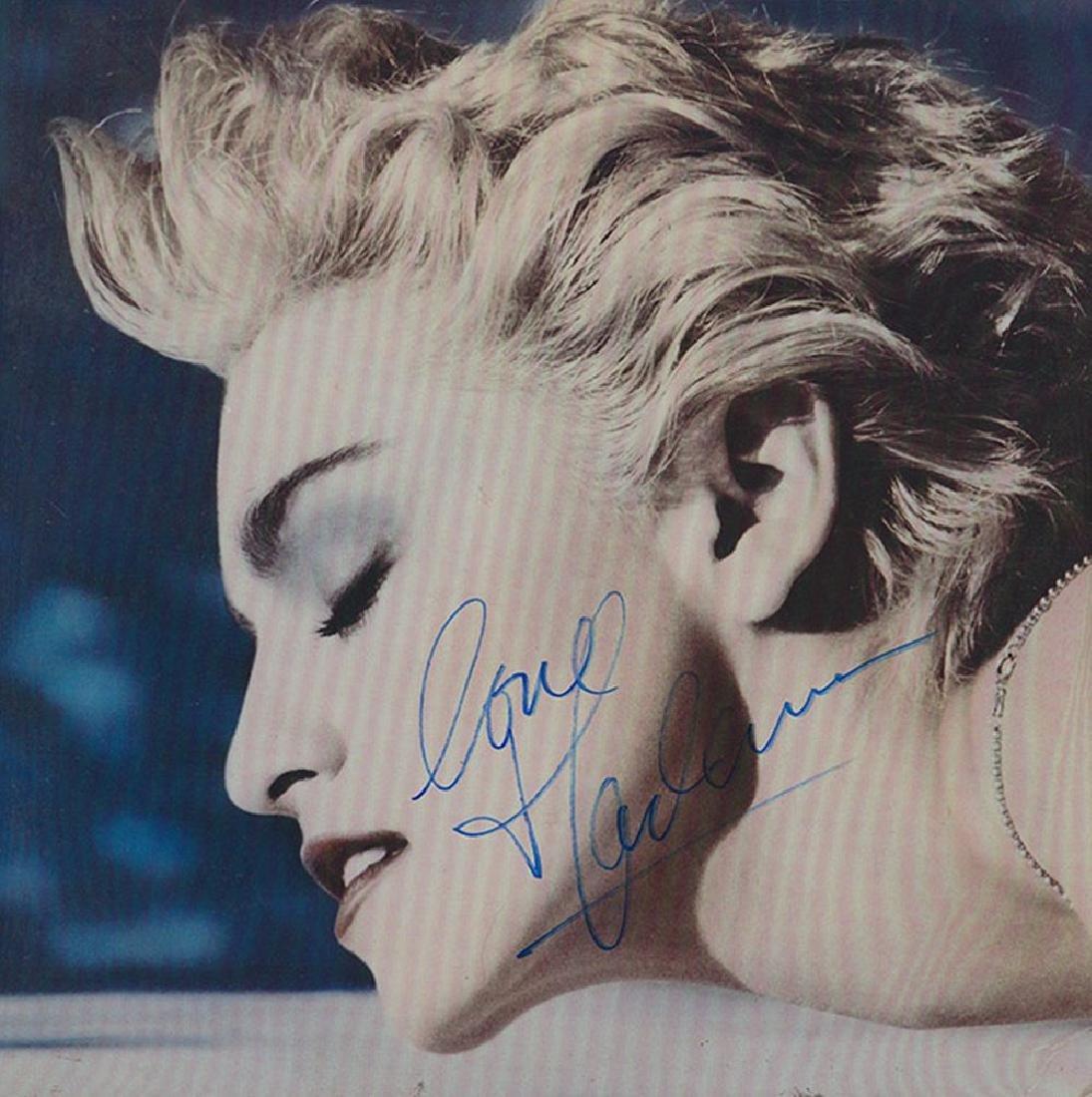 Madonna Signed True Blue Album