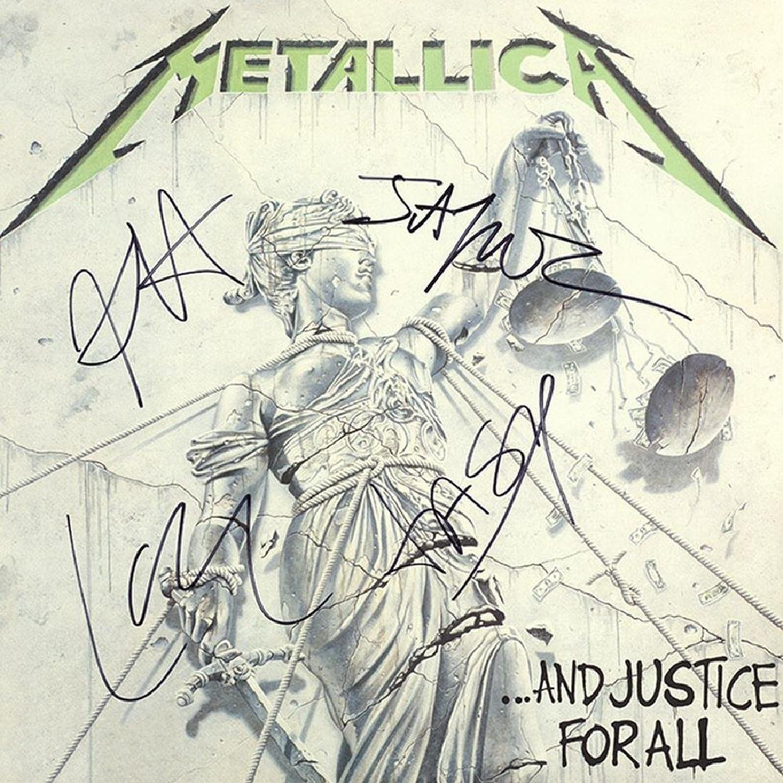"Metallica Signed ""...And Justice For All"" Album"