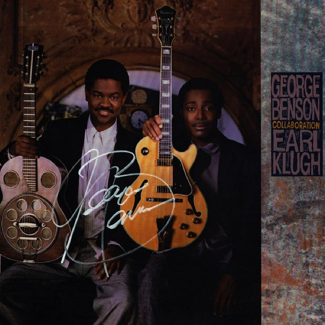 George Benson and Earl Klugh Collaboration Signed Album