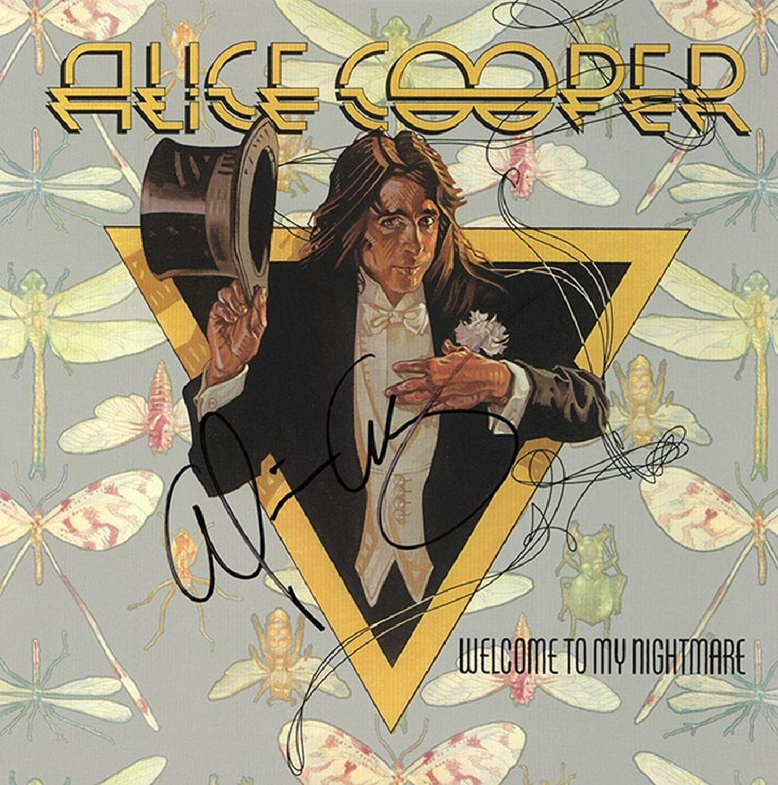 Alice Cooper Signed Welcome To My Nightmare Album