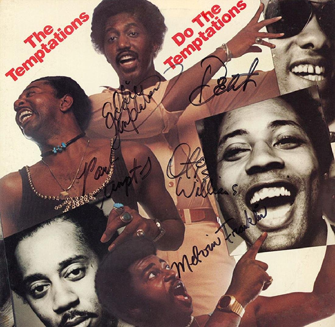 The Temptations Signed Do The Temptations Album