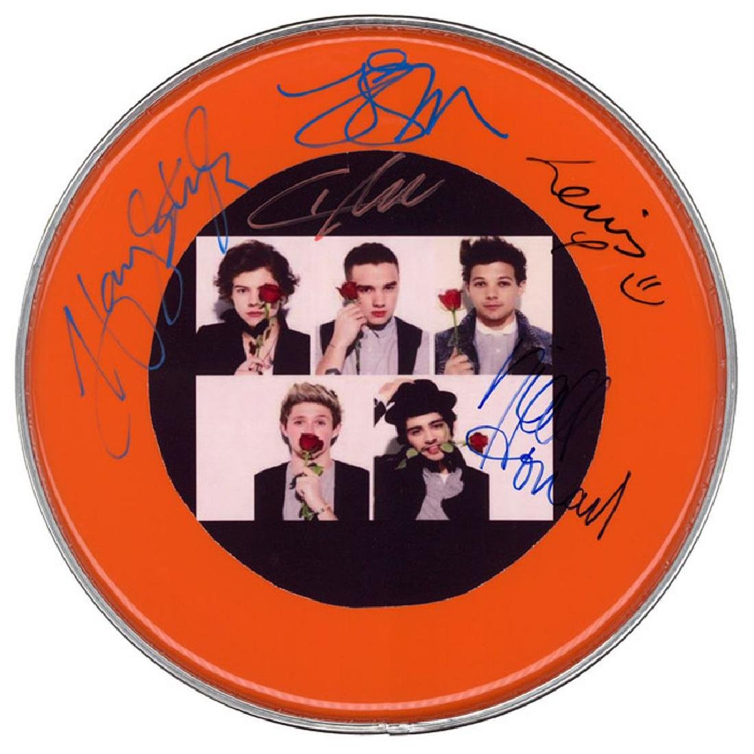 One Direction Signed Drum Head