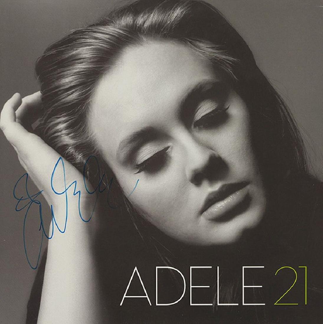 "Adele Signed ""21"" Album"