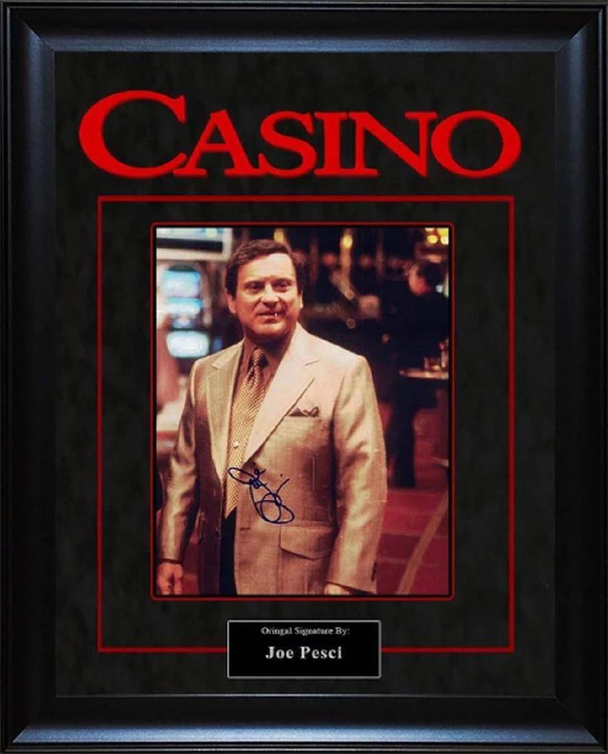 Casino - Signed by Joe Pesci - Framed Artist Series