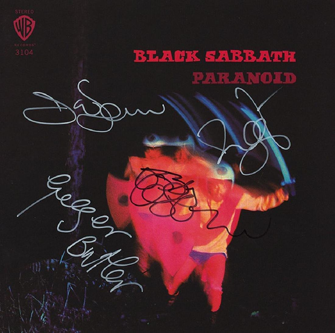 Black Sabbath Band Signed Paranoid Album