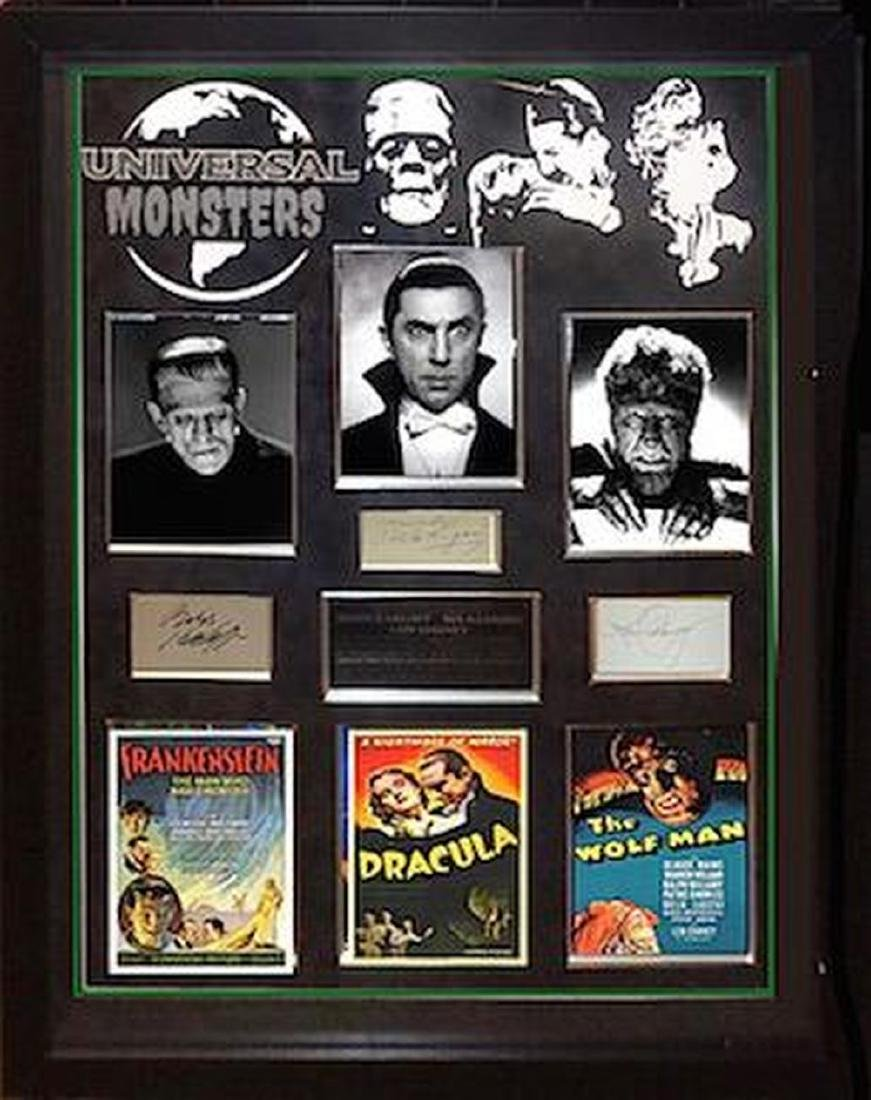 Universal Monsters Signed Star Collage